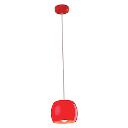 Red Gloss 1 Light 8in. Wide Pendant from the Caps Collection