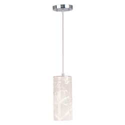 White Gloss 1 Light 5in. Wide Pendant from the Seep Collection