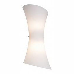 Frost White Two Light Up / Down Lighting Wall Sconce from the Conico Collection