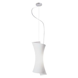 Frost White 1 Light 9in. Wide Pendant from the Conico Collection