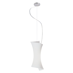 Frost White 1 Light 6in. Wide Pendant from the Conico Collection