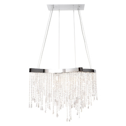 Crystal Sensation Led 14-Light Pendant