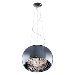 Polished Chrome 5 Light 15.75in. Wide Pendant from the Sense Collection