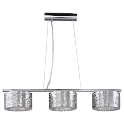 Polished Chrome 3 Light 8.75in. Wide Chandelier from the Inca Collection