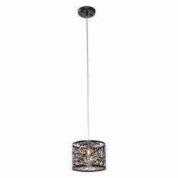 Bronze / Cognac Glass 1 Light 7.75in. Wide Pendant from the Inca Collection
