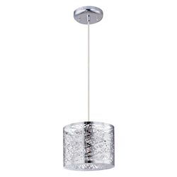 Polished Chrome 1 Light Mini Pendant From The Inca Collection