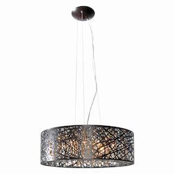 Bronze 9 Light 23.5in. Wide Pendant from the Inca Collection