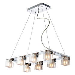 Chrome 8 Light 11.5in. Wide Chandelier from the Blocs Collection