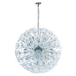 Polished Chrome 28 Light 31.5In. Wide Pendant From The Fiori Collection