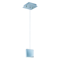 Polished Chrome / White 1 Light LED 3.25in. Wide Pendant from the Brick Collection
