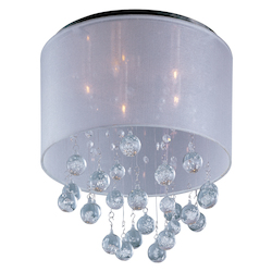 Polished Chrome Veil 5-Bulb Flush Mount Indoor Ceiling Fixture - Acrylic Shade Included