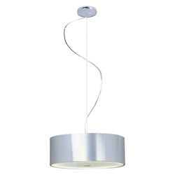 Brushed Aluminum 3 Light 16in. Wide Pendant from the Percussion Collection