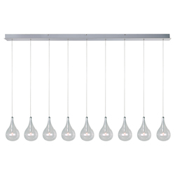 Polished Chrome 9 Light 5In. Wide Pendant From The Larmes Collection