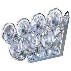 Polished Chrome Brilliant 2 Light Wall Sconce - Bulbs Included