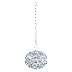 Polished Chrome 3 Light 8in. Wide Pendant from the Brilliant Collection