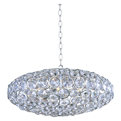 Polished Chrome 8 Light Pendant from the Brilliant Collection