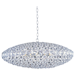 Polished Chrome 12 Light 34In. Wide Pendant From The Brilliant Collection