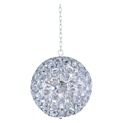 Polished Chrome 8 Light 16in. Wide Pendant from the Brilliant Collection