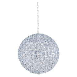 Polished Chrome 12 Light 24In. Wide Pendant From The Brilliant Collection