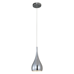 Polished Chrome 1 Light Mini Pendant From The Teardrop Collection