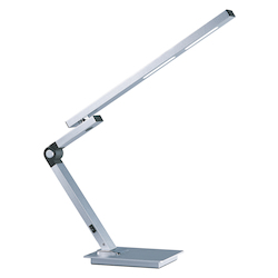 Satin Aluminum Eco-Task 1 Light 23 Inch LED Swing Arm Table Lamp