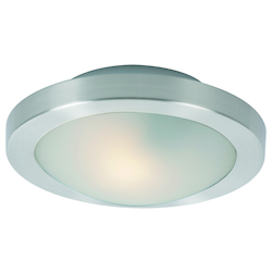 Satin Nickel Piccolo LED Single-Bulb Flush Mount Indoor Ceiling Fixture - Glass Shade Included