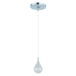 Satin Nickel / Clear Glass 1 Light 4.5in. Wide RapidJack Pendant and Flush Mount Canopy from the Larmes Collection