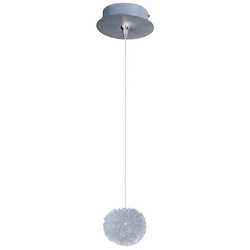 Brushed Aluminum 1 Light 5in. Wide Pendant from the Minx Collection