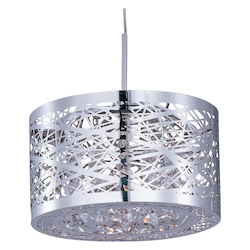 Polished Chrome 1 Light 7in. Wide RapidJack Pendant from the Inca Collection