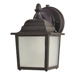 Maxim One Light Empire Bronze Frosted Glass Wall Lantern - 86924EB