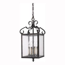 Fired Bronze Valencia Foyer Pendant With 4 Lights - Golden 2049-4P FB