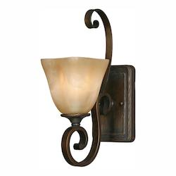 Golden Bronze Single Light Wall Sconce From The Meridian Collection