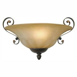 Leather Crackle Single Light Wall Washer From The Mayfair Collection - Golden 7116-WSC LC