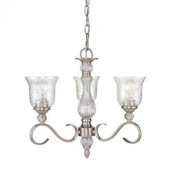Burnt Sienna Alston Place 3 Light Mini Chandelier - Golden 8118-M3 PW