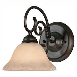 1 Light Wall Sconce in Rubbed Bronze - Golden 8606-BA1 RBZ-TEA