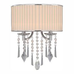 Chrome Two Light Wall Sconce From The Echelon Collection - Golden 8981-WSC BRI