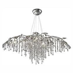 Mystic Gold Autumn Twilight 12 Light Crystal Chandelier - Golden 9903-12 MSI