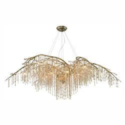 Mystic Gold Autumn Twilight 24 Light 1 Tier Chandelier