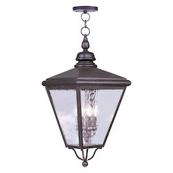 Bronze Cambridge 4 Light Outdoor Pendant