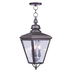 Bronze Cambridge 3 Light Outdoor Pendant