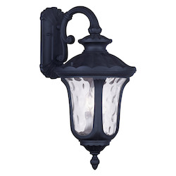 Black Oxford 28In. Height 3 Light Outdoor Wall Sconce