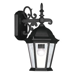 Black 1 Light Wall Sconce with Beveled Glass from Hamilton Series