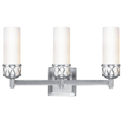 Brushed Nickel Westfield 3 Light ADA Bathroom Vanity Light