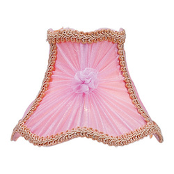 Pink Victorian Scalloped Bell Clip Shade with Fancy Trim Chandelier Shade with Pink Victorian Scalloped Bell Clip Shade with Fancy Trim from Chandelier Shade Series