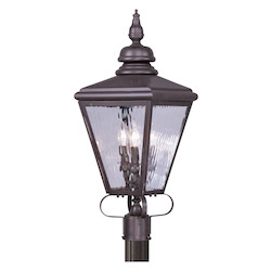 Bronze Cambridge 3 Light Outdoor Post Light