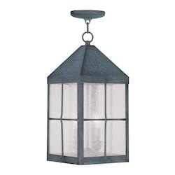 Hammered Charcoal Brighton Outdoor Pendant with 3 Lights