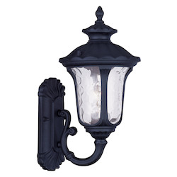Black Oxford 1 Light Outdoor Wall Sconce