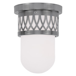 Brushed Nickel Westfield Flush Mount Ceiling Fixture with 1 Light