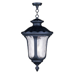 Black Oxford 26In. Height 3 Light Outdoor Pendant