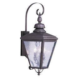 Bronze Cambridge 3 Light Outdoor Wall Sconce